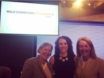 Ann Sherry AO, Dr Francesca Maclean, and Elizabeth Broderick AO.