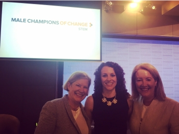 Ann Sherry AO, Dr Francesca Maclean, and Elizabeth Broderick AO.