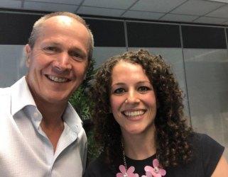 Francesca and Gavin Slater, CEO DTA